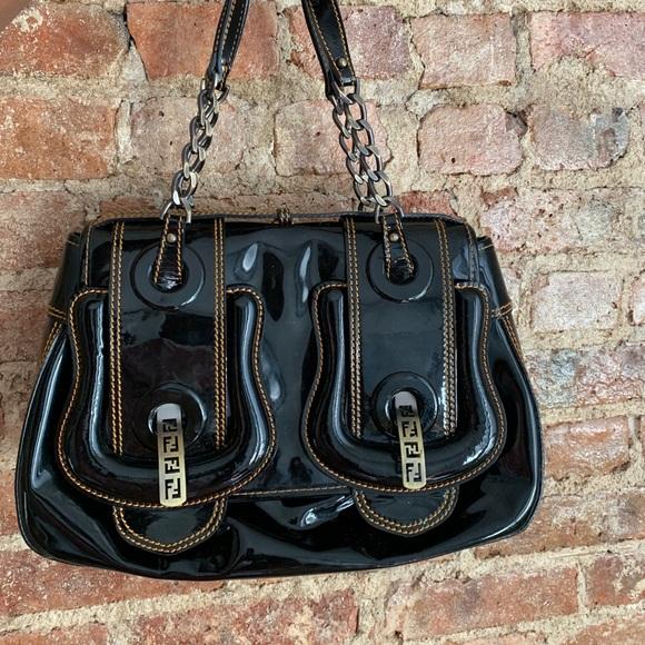 Fendi Handbags - FENDI Patented Leather B.Bag 100% authentic!